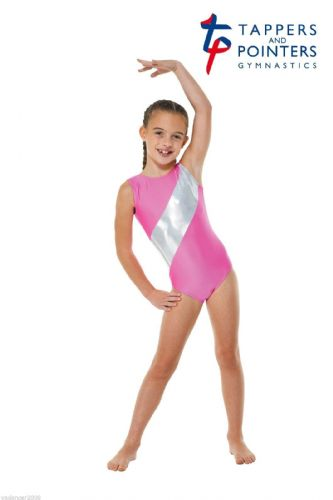 Tappers and Pointers Gymnastics Sleeveless Tank Leotard Pink Gym 5